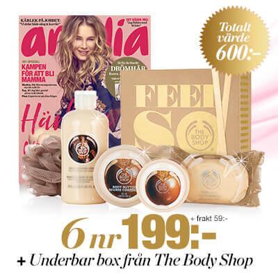 Amelia och lyxigt kit från The Body Shop