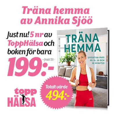 Topphälsa + boken Träna hemma Annika Sjöö som premie