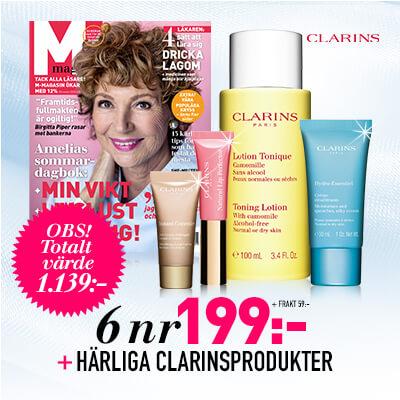 M-magasin + Härliga produkter från Clarins