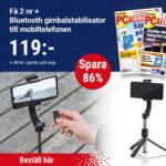 PC-tidningen + Bluetooth Gimbalstabilisator till din Mobil