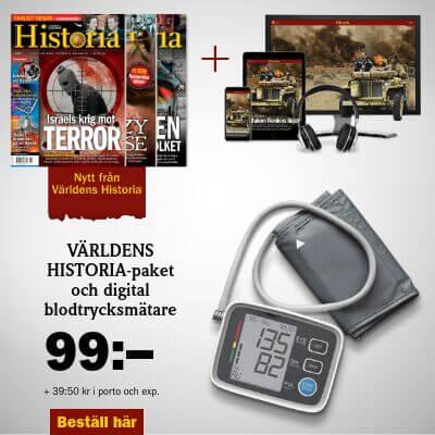Världens Historia + Digital blodtrycksmätare premie
