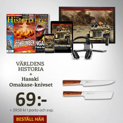 Världens Historia + Hasaki Omakase-knivset som tidningspremie