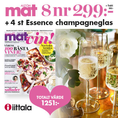 Allt om Mat + 4 Iittala Champagneglas som premie