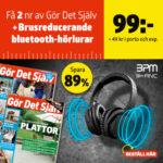 Gör Det Själv + Brusreducerande bluetooth-hörlurar