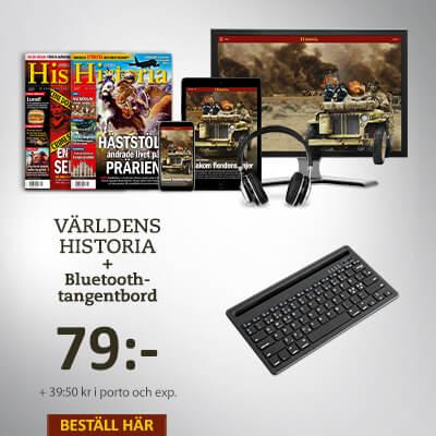 Världens Historia + Bluetooth-tangentbord prenumerationspremie