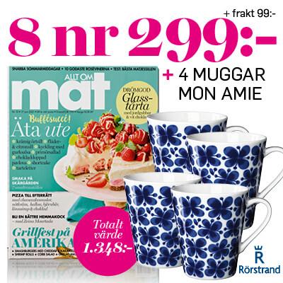 Allt om Mat + 4 Mon Amie-Muggar