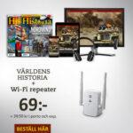 Världens Historia + Wi-Fi repeater