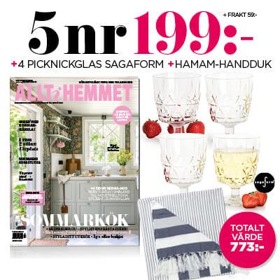 Allt i Hemmet + 4 picknickglas från Sagaform + hamam-handduk