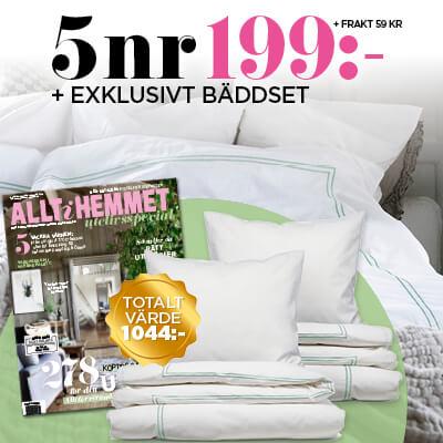 Allt i Hemmet + Lyxigt & Klassiskt Bäddset Premie