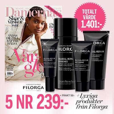 Damernas Värld + lyxiga produkter från Filorga som premie