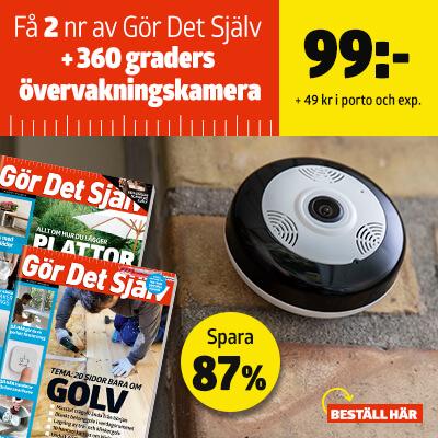 Gör Det Själv + 360-grader övervakningskamera premie-erbjudande