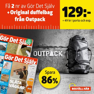 Gör Det Själv + Original duffelbag från Outpack som premie-erbjudande