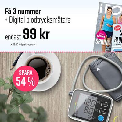 I FORM + Digital blodtrycksmätare som premie