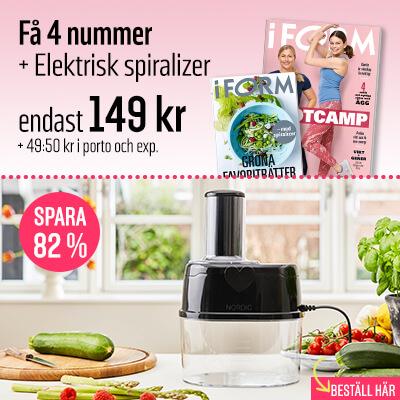 I FORM + Elektrisk Spiralizer premie-erbjudande