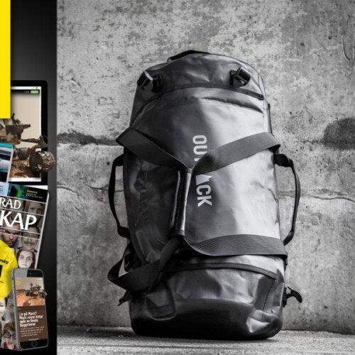 Illustrerad Vetenskap + Outpack duffelväska 30 liter premie erbjudande