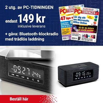 PC-tidningen + Bluetooth-klockradio med trådlös laddning som prenumerationspremie
