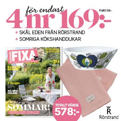 Allt om Trädgård Fixa + skål Eden + handdukar prenumerationspremie