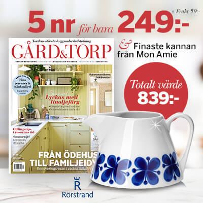 Gård & Torp + Kanna Mon Amie från Rörstrand