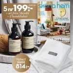 Sköna Hem + Handtvål & handlotion från Meraki & handdukar