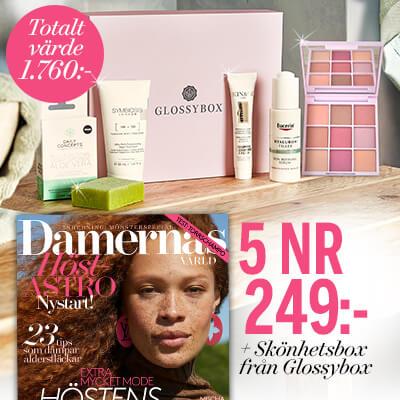 Damernas Värld + skönhetsbox från Glossybox