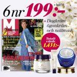 M-magasin + dagkräm, ögonkräm och nattmask