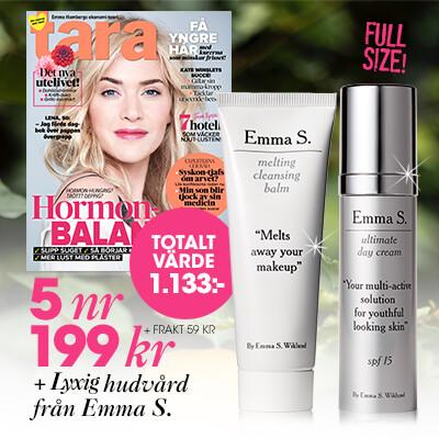 Tara + lyxig hudvård från Emma S som premie