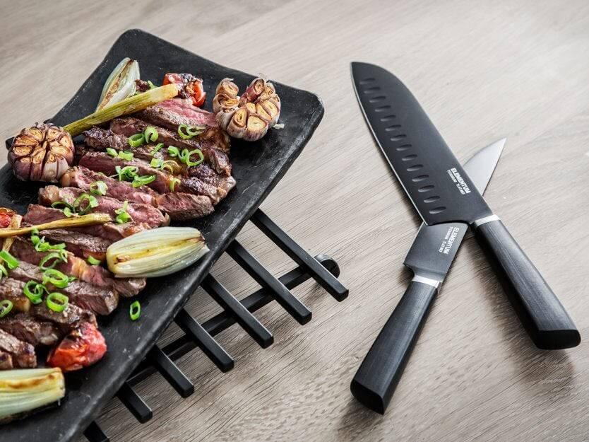 titankniv med kött