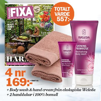 Allt om Trädgård Fixa + 2 produkter från Weleda & Handdukar som premie
