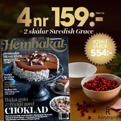 Hembakat + 2 skålar Swedish Grace